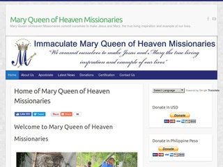 Mary Queen of Heaven Missionaries