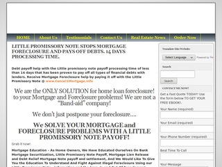 Stop Mortgage Foreclosure website